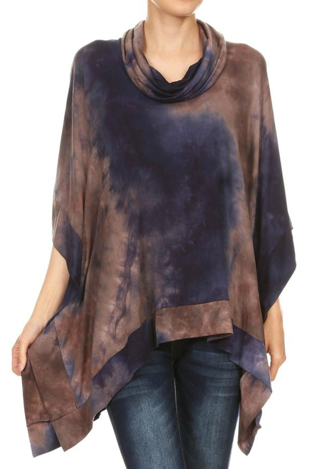 Ariella USA Tiedye Laced Poncho - Front Full Image