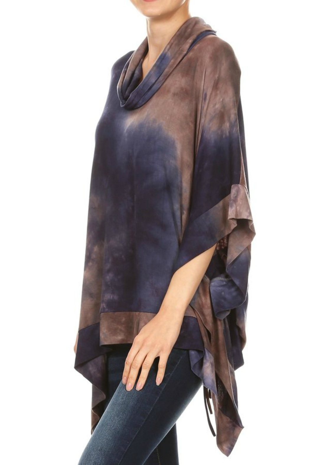 Ariella USA Tiedye Laced Poncho - Side Cropped Image