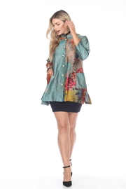 Aris A Button-Up Floral Tunic - Front cropped