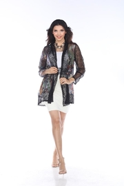 Aris A Chiffon & Lace Jacket - Product Mini Image