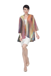 Aris A Colorful Chiffon Cardigan - Front cropped
