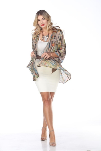 Aris A Colorful Open Jacket from Cambria by New Moon  — Shoptiques