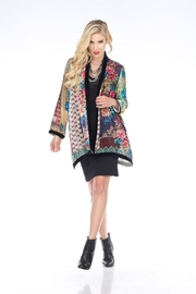 Aris A Colorful Velvet Cardigan - Product Mini Image