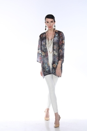 Aris A Floral Chiffon Cardigan - Front cropped