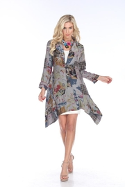 Aris A Floral Empire Coat - Product Mini Image