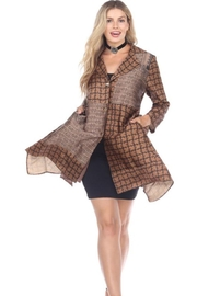 Aris A Gold & Brown Jacket - Product Mini Image