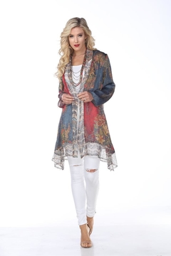 Aris A Patchwork Chiffon Cardigan - Alternate List Image