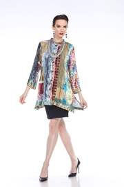 Aris A Patchwork Velvet Jacket - Product Mini Image