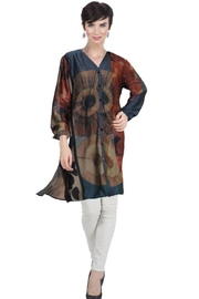 Aris A Spiral Button Up Tunic - Product Mini Image