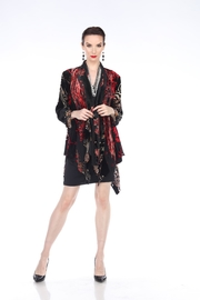 Aris A Velvet Burnout Cardigan - Product Mini Image