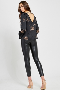 Gentle Fawn Arisa luxe black floral blouse - Alternate List Image