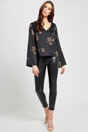 Gentle Fawn Arisa luxe black floral blouse - Product Mini Image