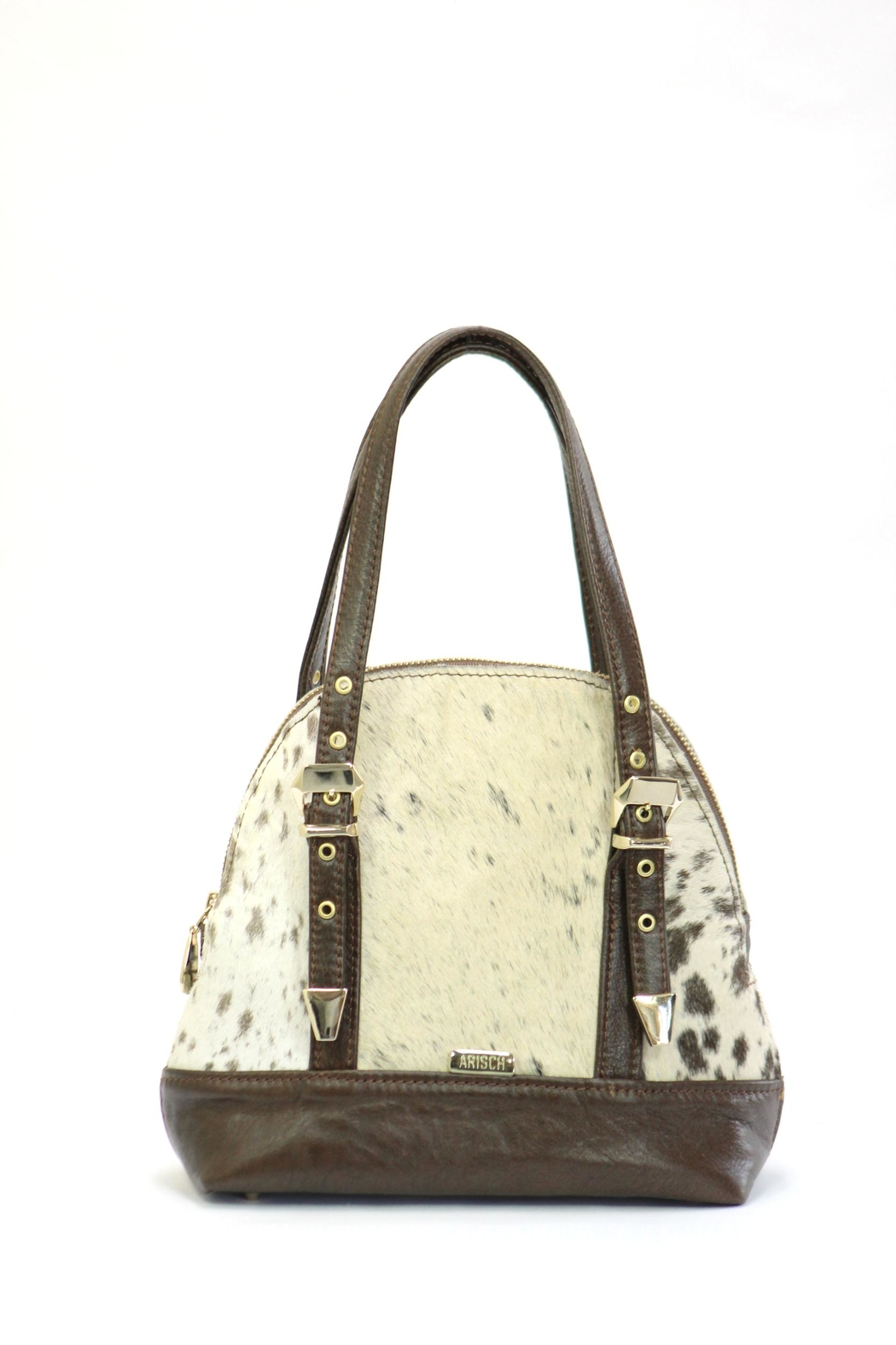 Arisch Black Leather Shoulder Bag - Main Image