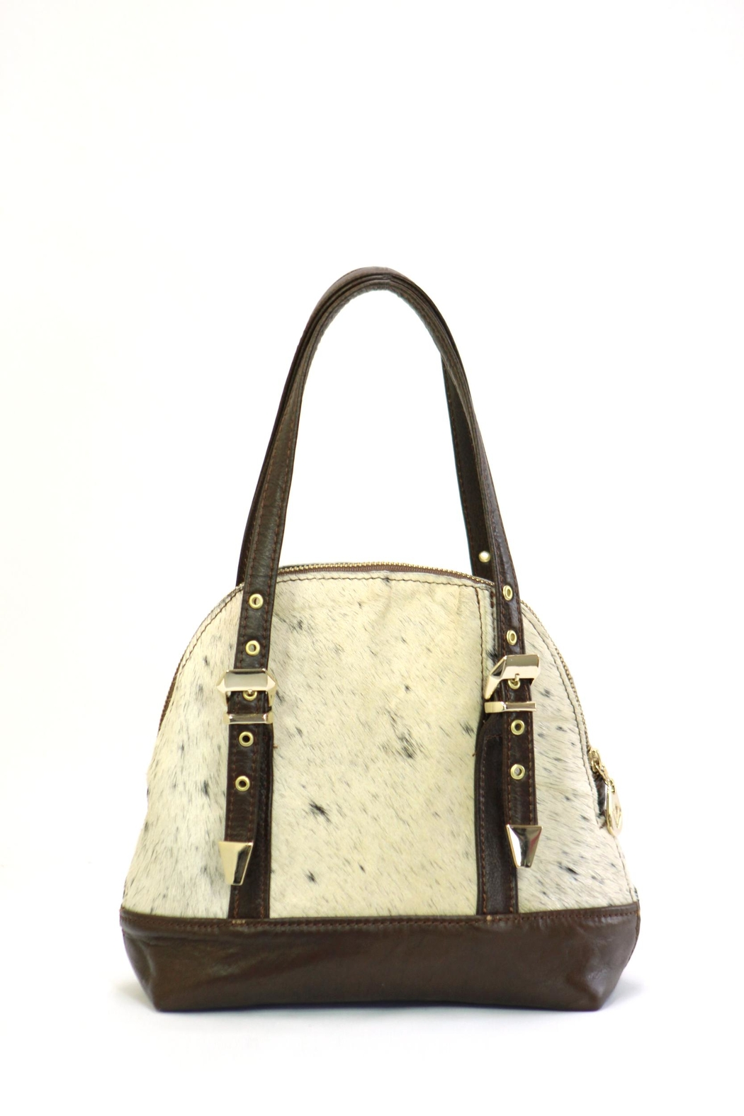 Arisch Black Leather Shoulder Bag - Front Full Image