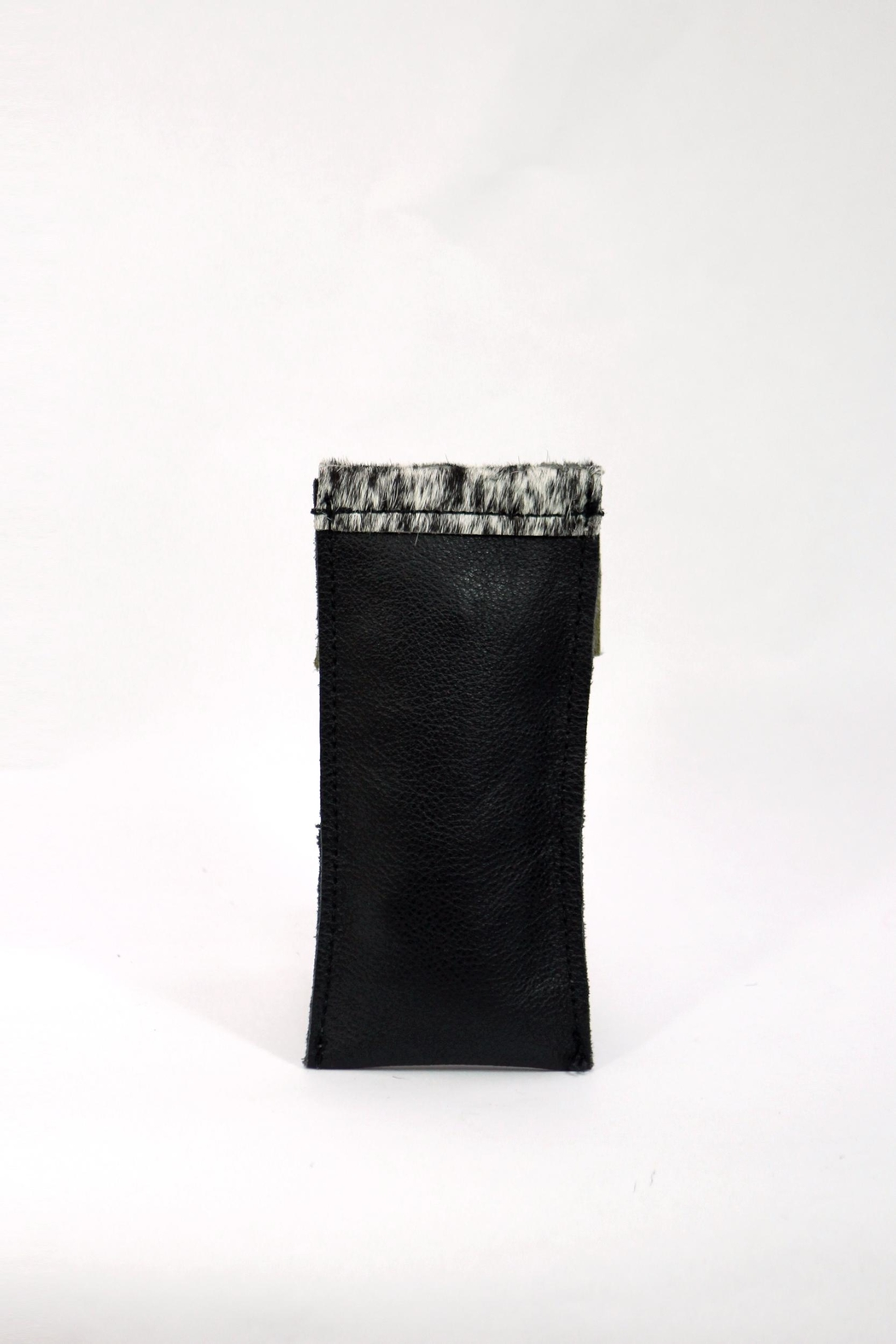 Arisch Black Vertical Purse - Front Full Image