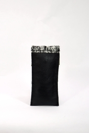 Arisch Black Vertical Purse - Front full body