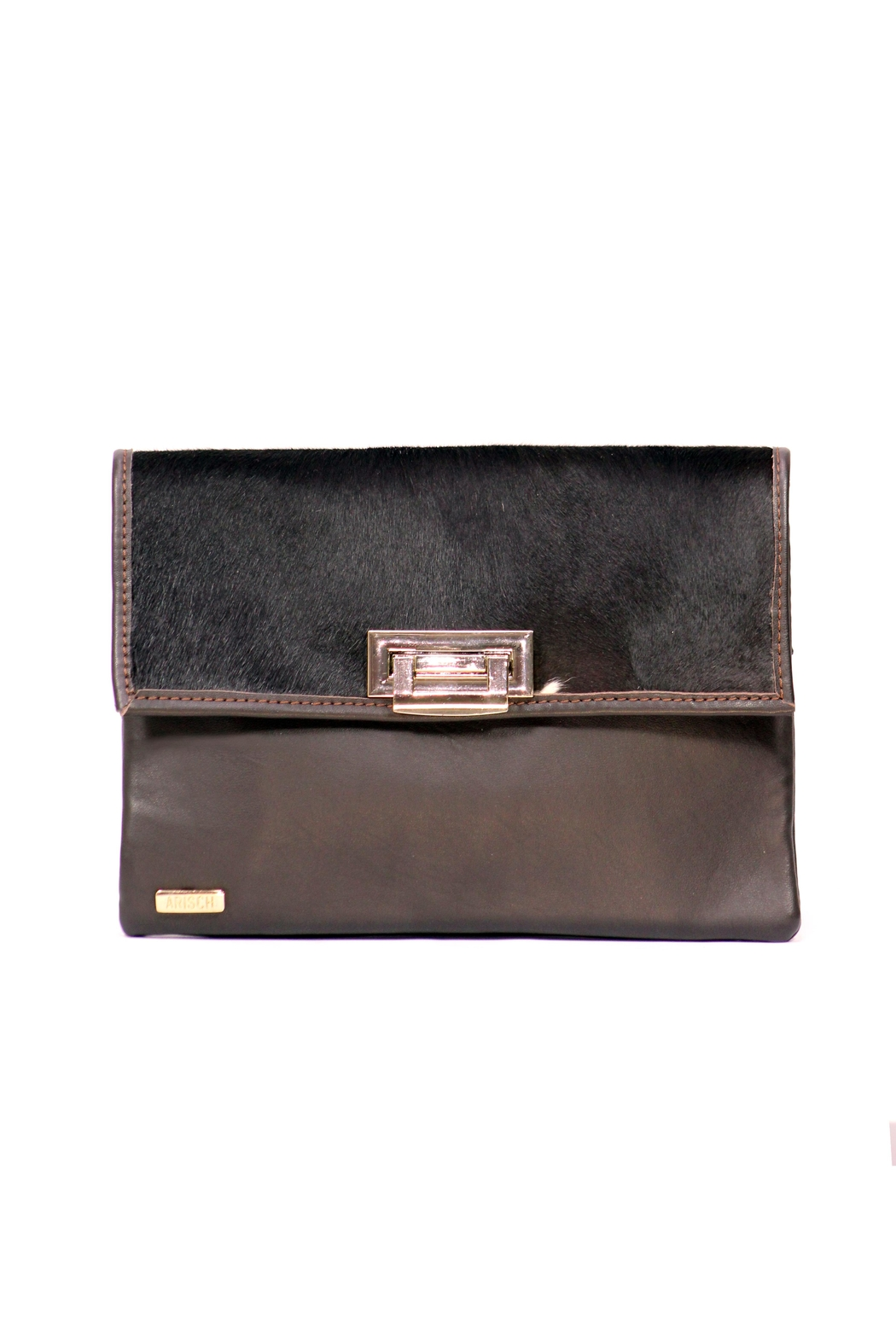 Arisch Chocolate Isabel Clutch - Front Cropped Image