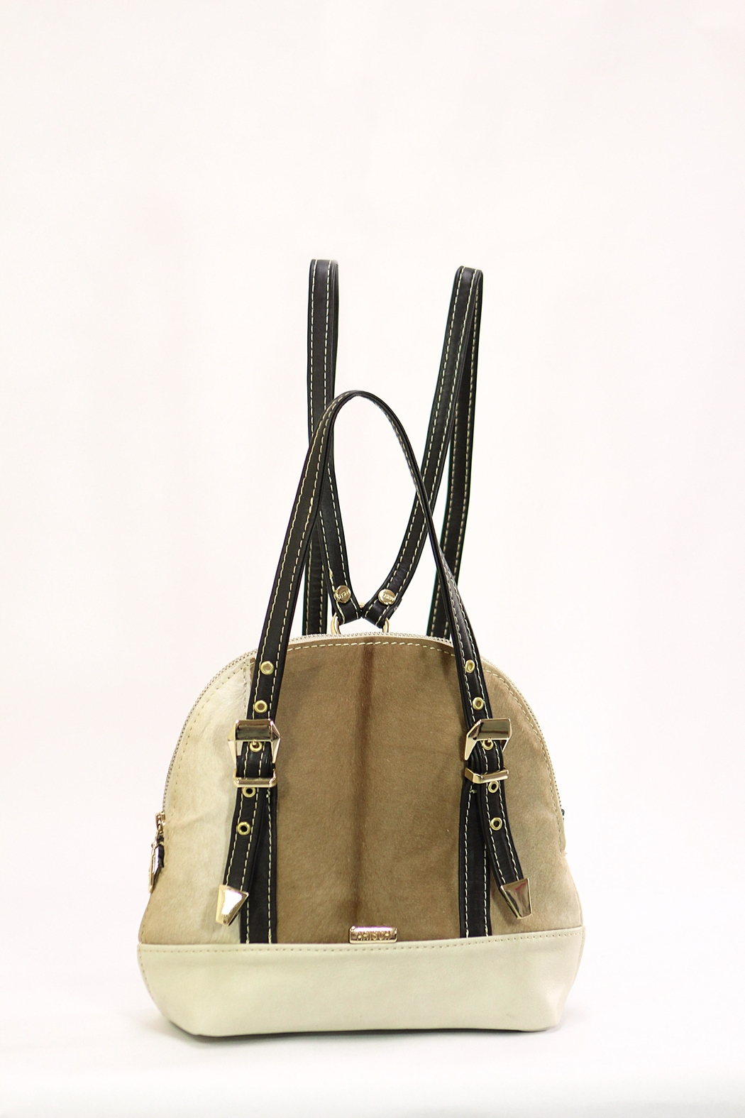 Arisch Cream Jane Backpack - Front Cropped Image