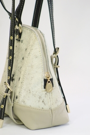 Arisch Cream Leather Backpack - Side cropped