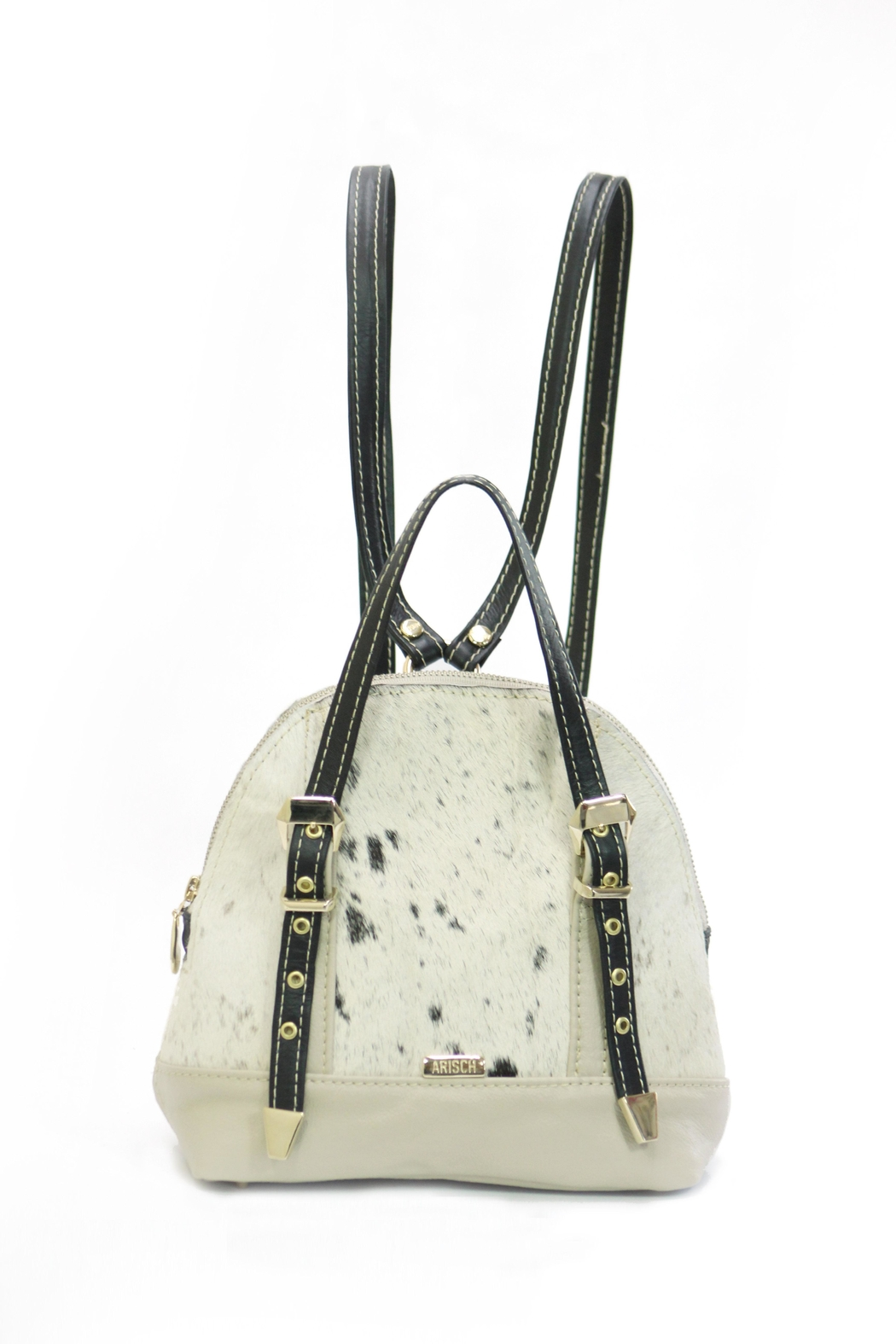 Arisch Cream Leather Backpack - Main Image