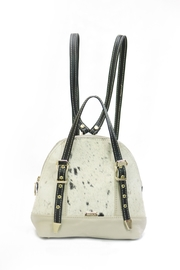 Arisch Cream Leather Backpack - Front cropped