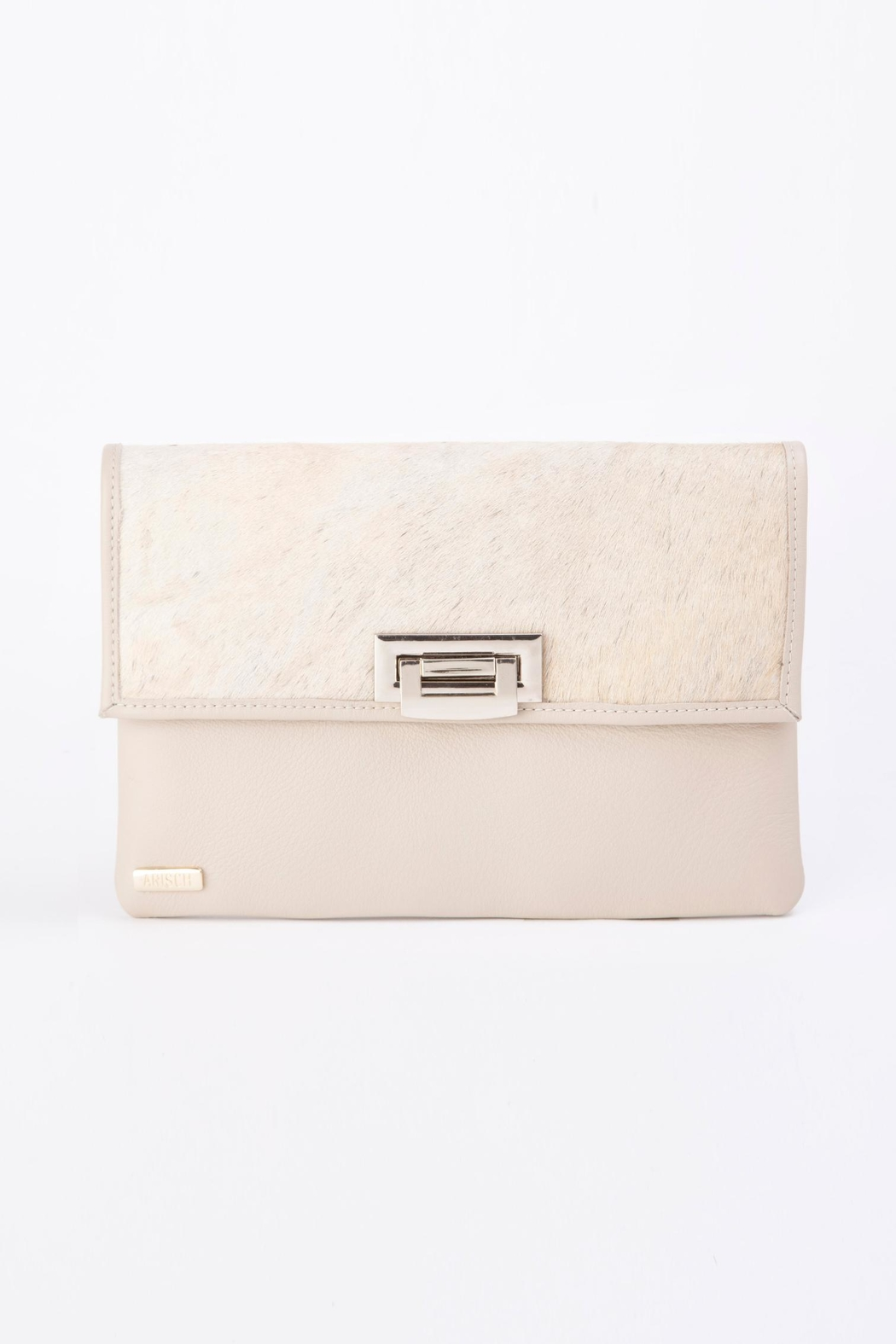 Arisch Isabel Clutch Leather - Front Cropped Image