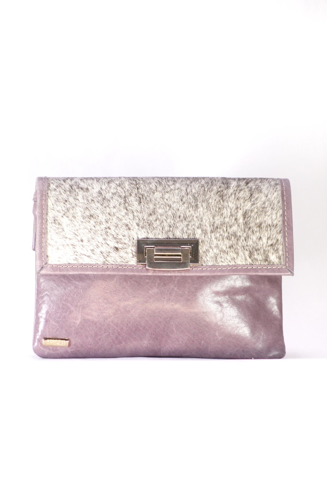 Arisch Lilac Isabel Clutch - Front Cropped Image