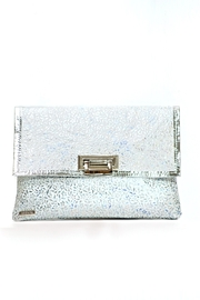 Arisch Metallic Flowers Clutch - Product Mini Image