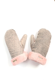 Arisch Pink Leather Gloves - Product Mini Image