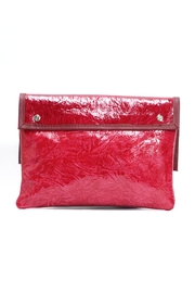 Arisch Red Leather Clutch - Front full body