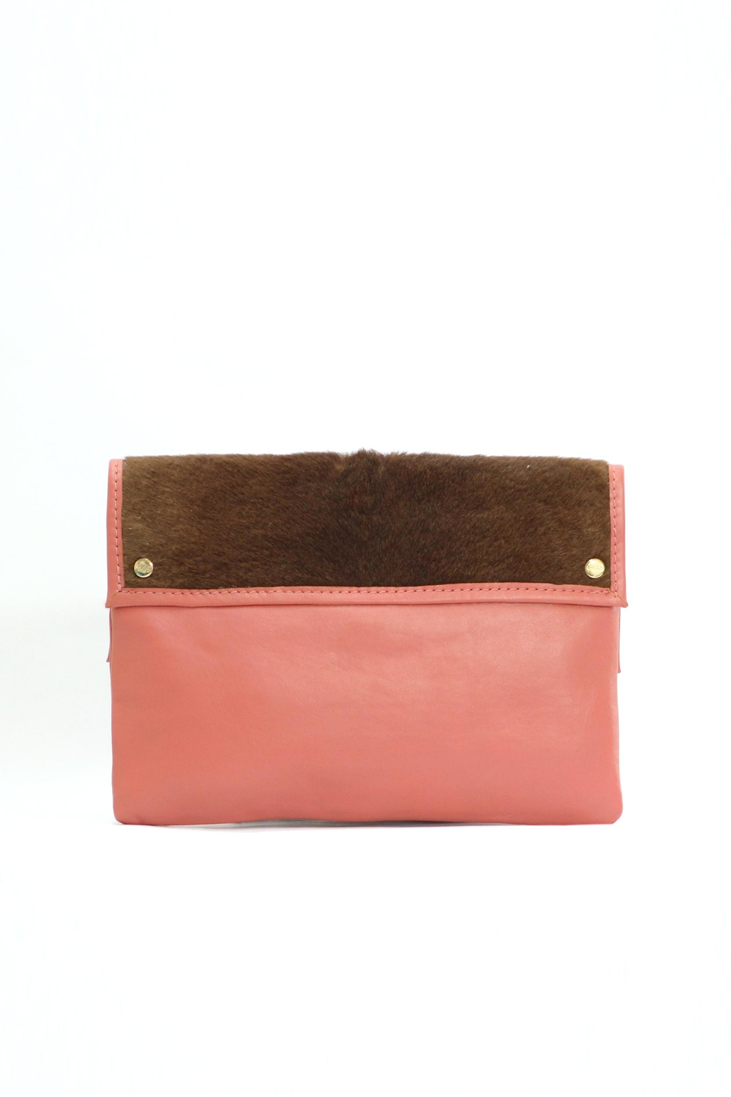 Arisch Salmon Isabel Clutch - Front Full Image