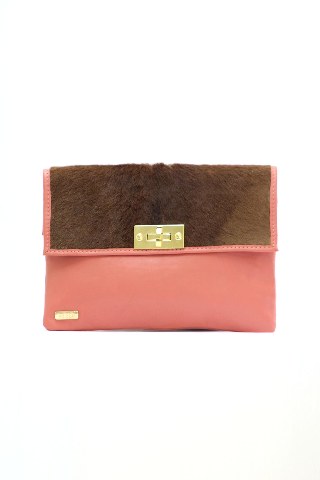 Arisch Salmon Isabel Clutch - Front Cropped Image