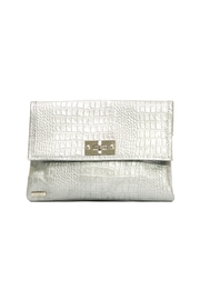 Arisch Silver Croc Clutch - Product Mini Image
