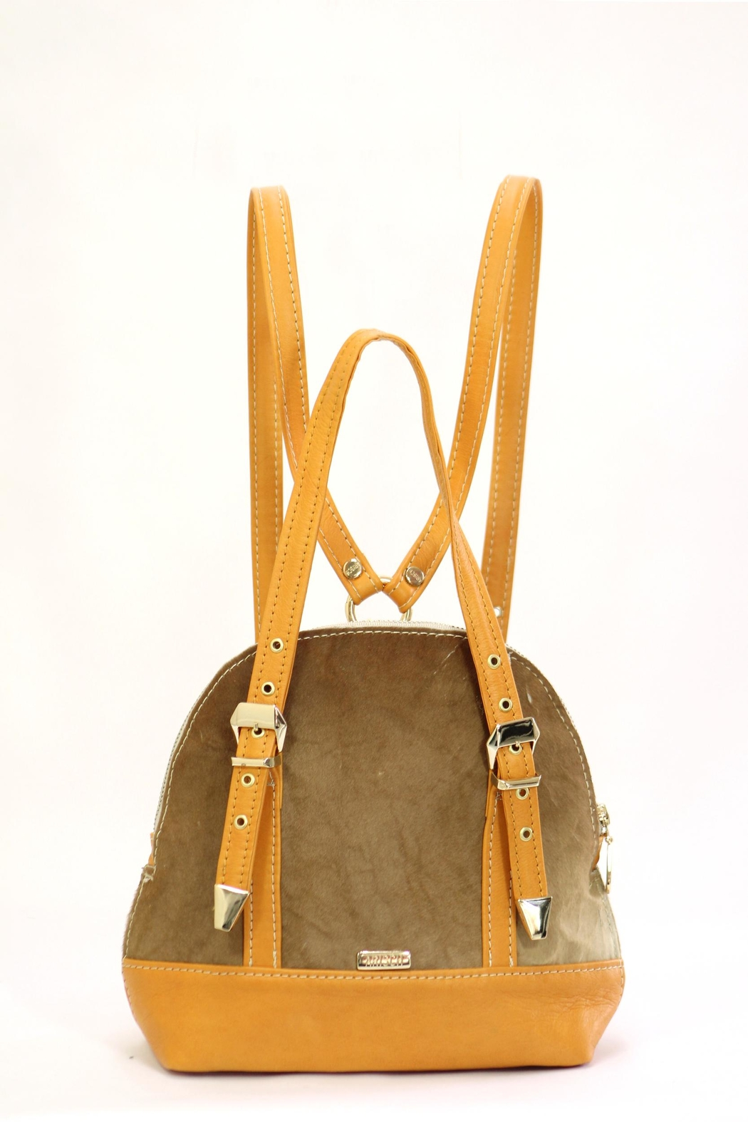 Arisch Yellow Leather Backpack - Main Image