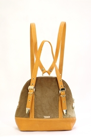 Arisch Yellow Leather Backpack - Product Mini Image