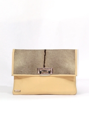 Arisch Yellow Leather Isabel Clutch - Product Mini Image