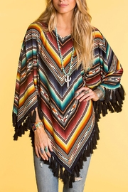 Double D Ranchwear Arizona Highway Poncho - Front cropped