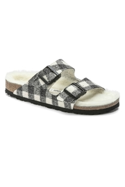 Birkenstock Arizona Rivet Narrow Width in Plaid White - Product Mini Image