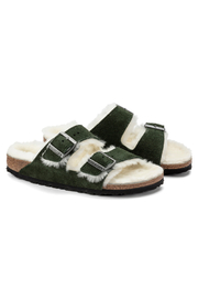 Birkenstock Arizona Shearling Suede Leather - Front full body