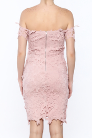 Ark & Co. Pink Crochet Dress - Back cropped