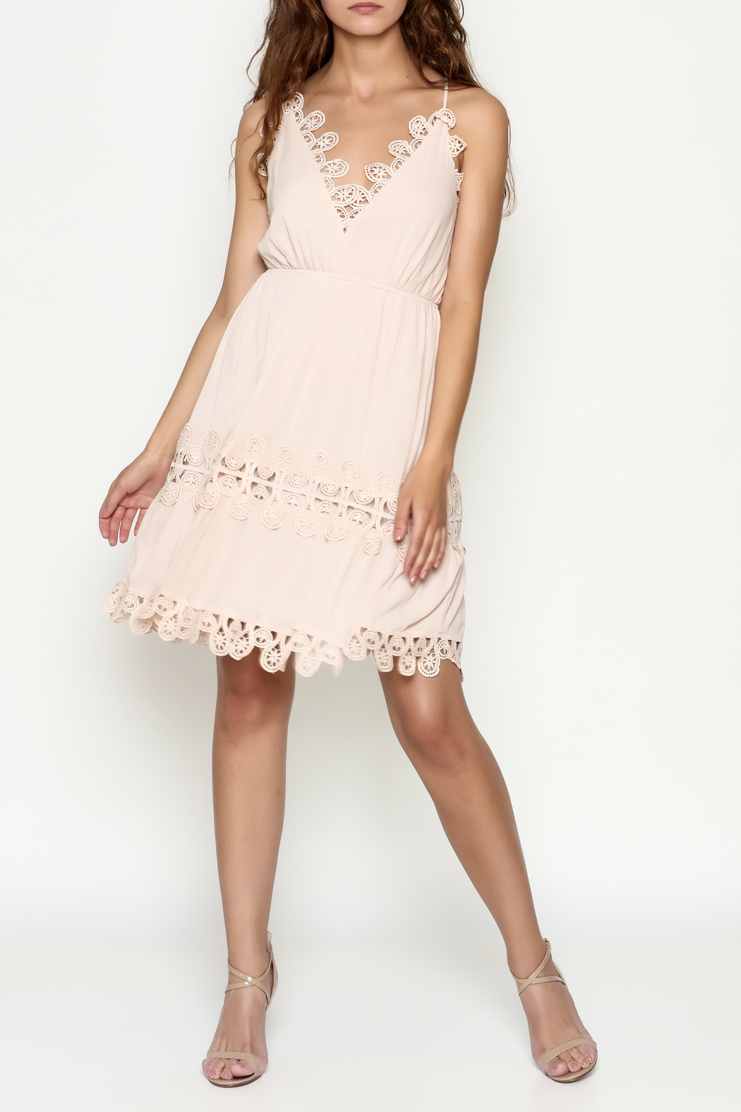 Ark & Co. Crochet Dress - Side Cropped Image