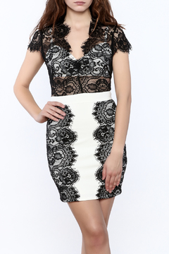 Shoptiques Product: Sheer Top Lace Dress