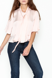 Ark & Co. Dotty Bow Blouse - Front cropped