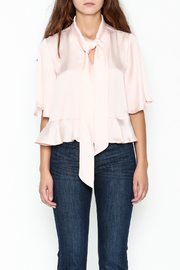 Ark & Co. Dotty Bow Blouse - Front full body