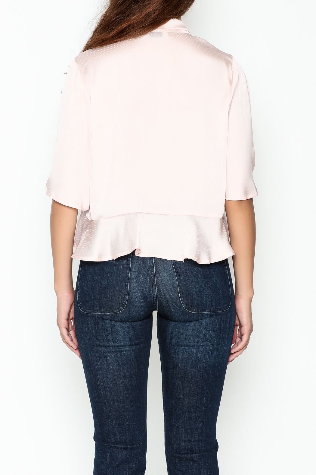 Ark & Co. Dotty Bow Blouse - Back Cropped Image