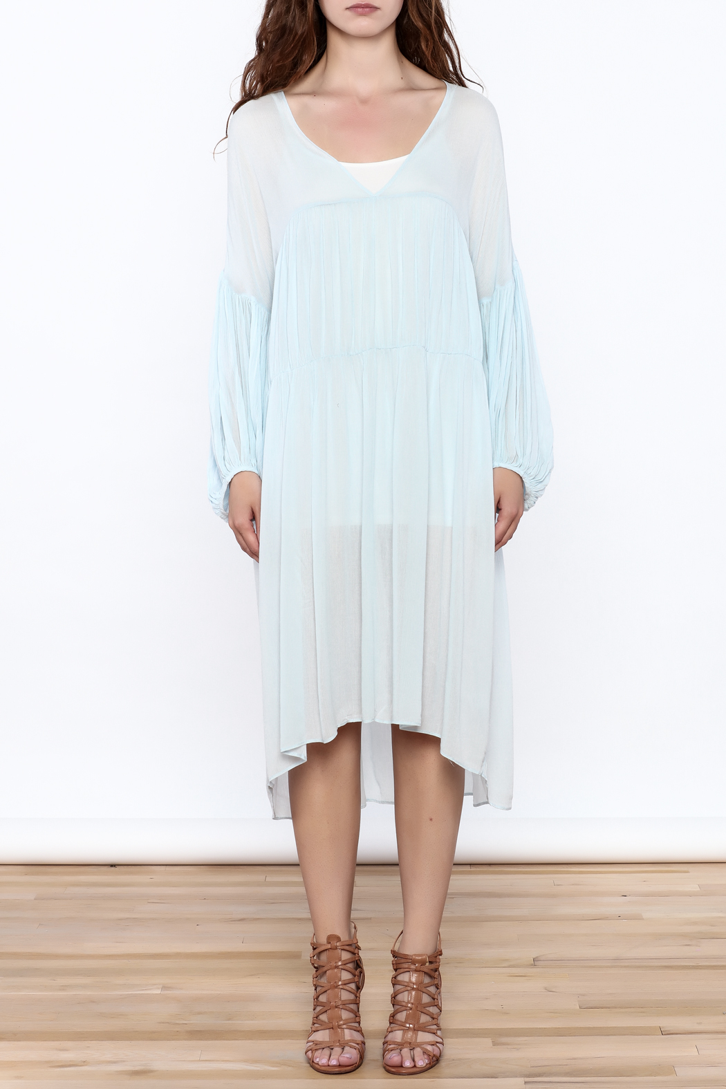 Ark & Co. Soft Blue Genie Dress - Front Cropped Image