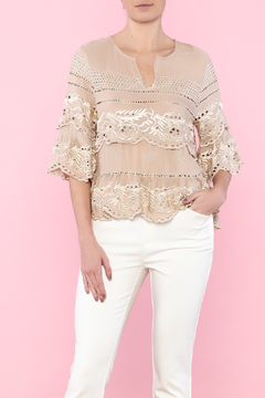 Shoptiques Product: Elegant Embroidery Blouse