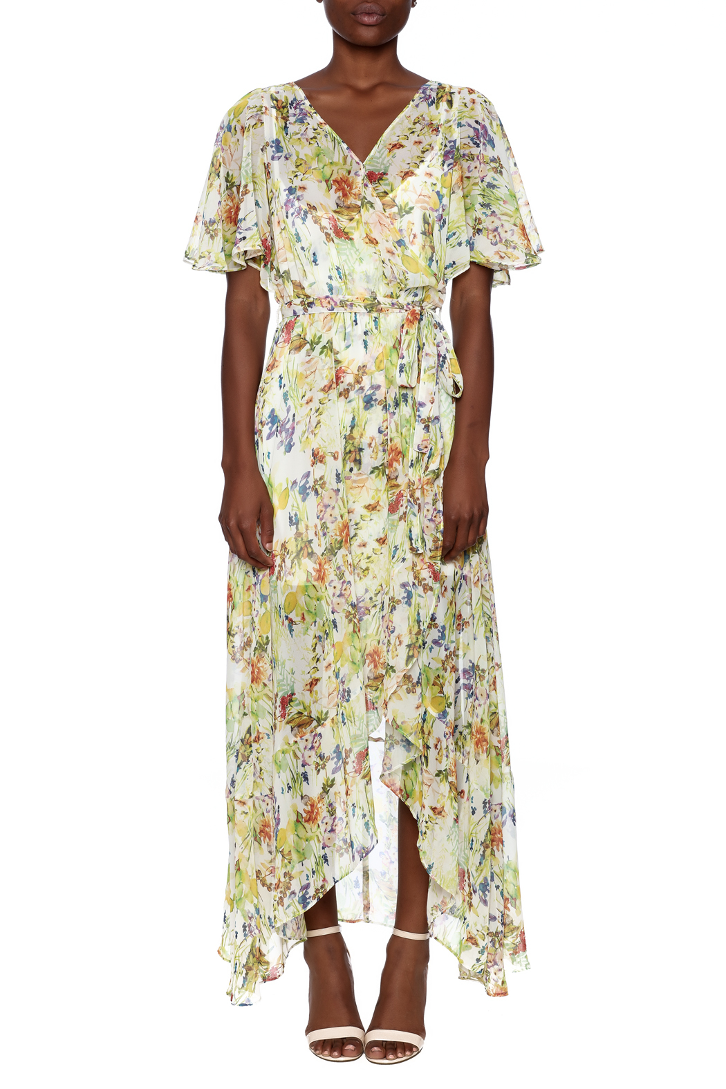 Ark & Co. Floral Wing Maxi Dress - Front Cropped Image