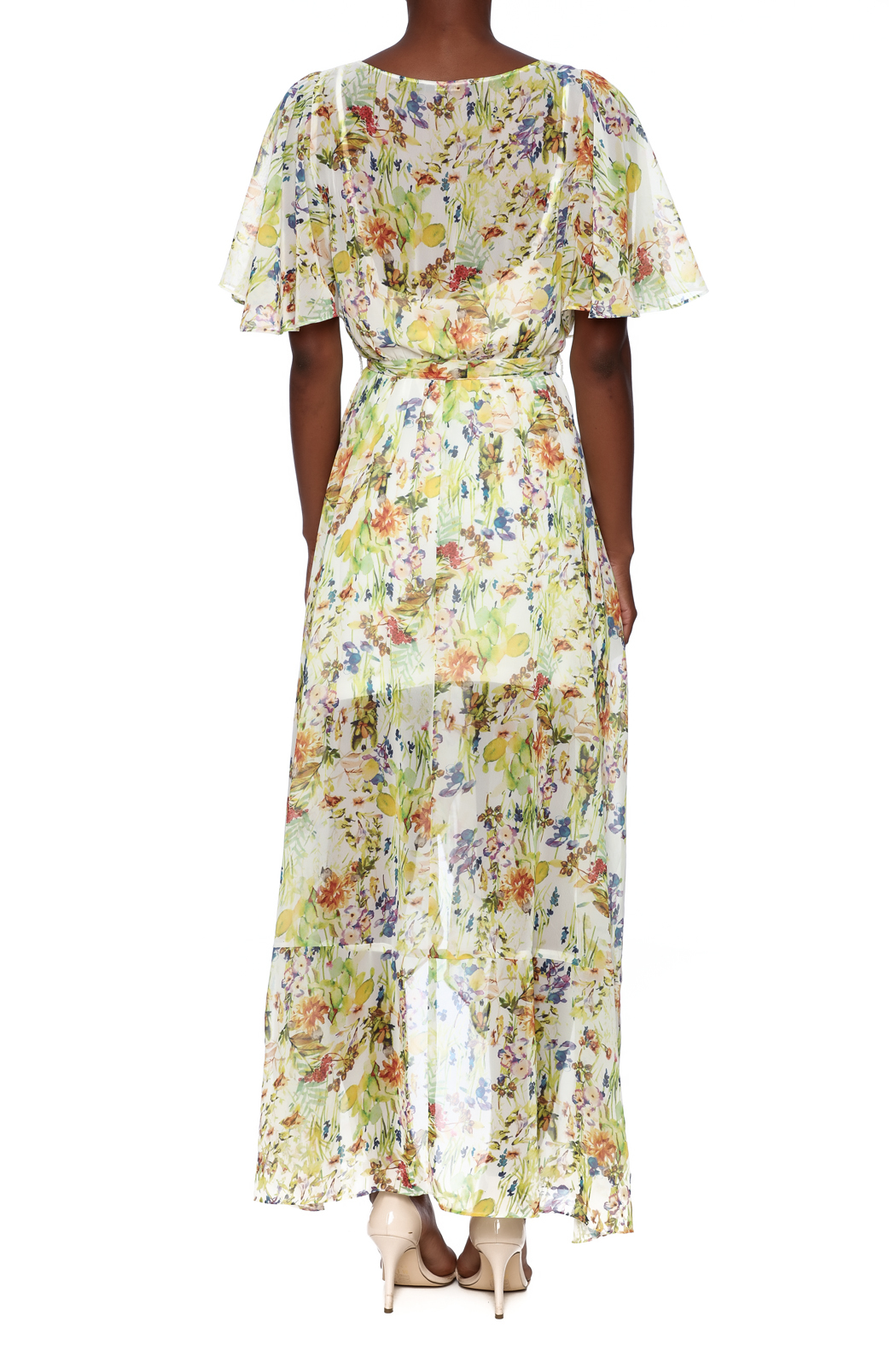 Ark & Co. Floral Wing Maxi Dress - Back Cropped Image