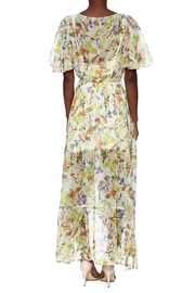 Ark & Co. Floral Wing Maxi Dress - Back cropped